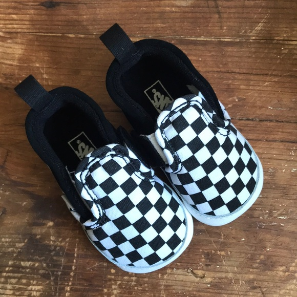 054dc112e3 Vans - Slip On V - Crib Shoe - Checkerboard